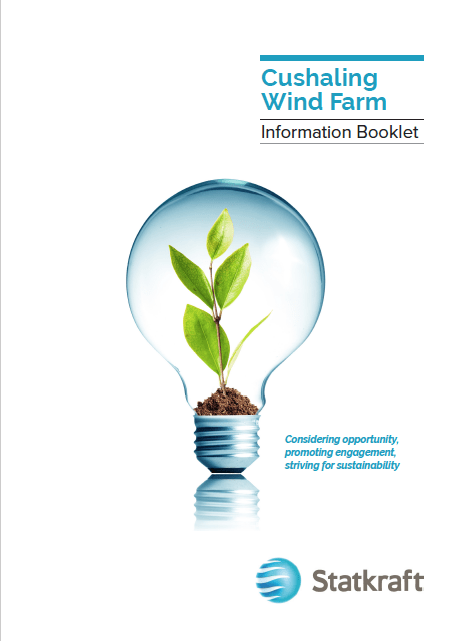 Cushaling Wind Farm information booklet cover